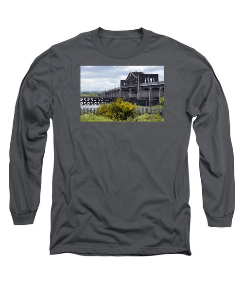 Long Sleeve T-Shirt featuring the photograph Kincardine Bridge by Jeremy Lavender Photography