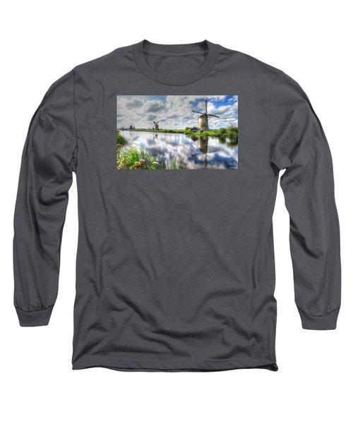 Kinderdijk Long Sleeve T-Shirt by Uri Baruch