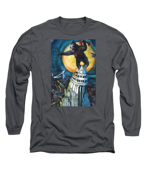 King Kong Long Sleeve T-Shirt by Les Leffingwell