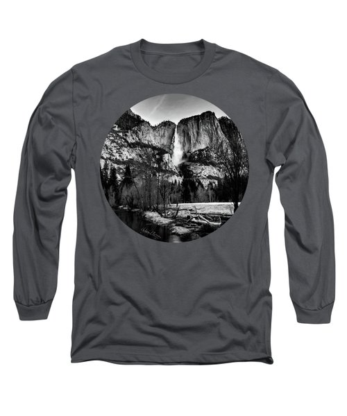 King Of Waterfalls, Black And White Long Sleeve T-Shirt