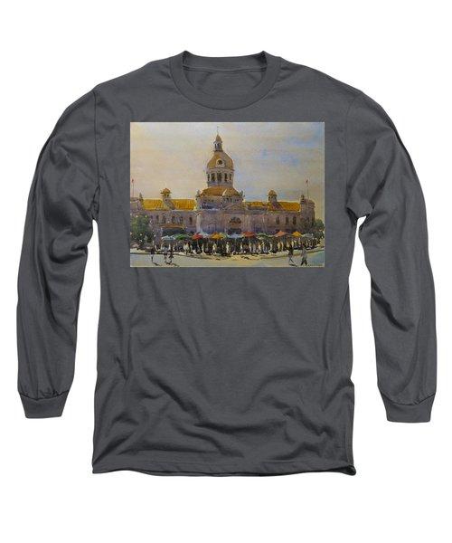 Kingston-city Hall Market Morning Long Sleeve T-Shirt