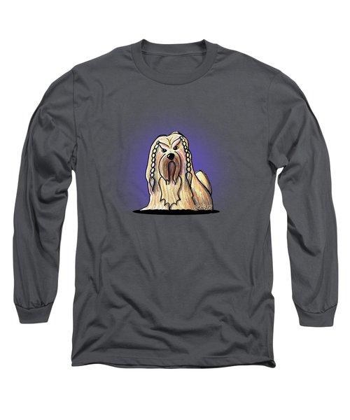 Kiniart Lhasa Apso Braided Long Sleeve T-Shirt