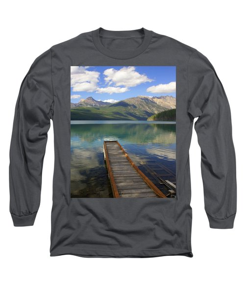 Kintla Lake Dock Long Sleeve T-Shirt