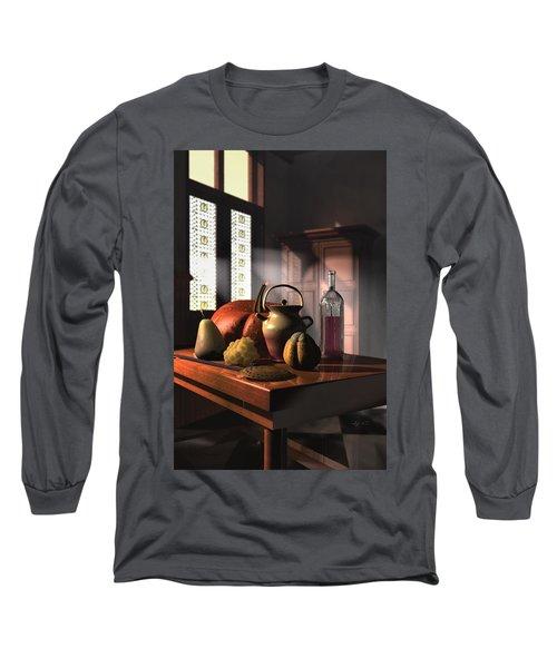 Kinzeliin Still Life 1 Long Sleeve T-Shirt by Dave Luebbert