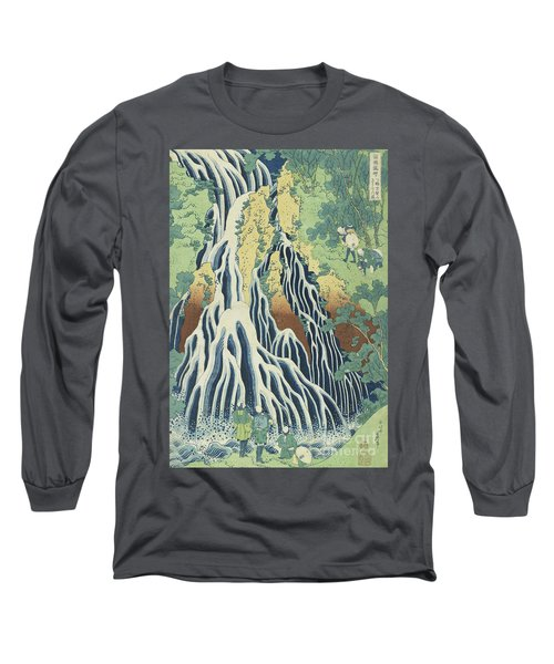 Kirifuri Falls Near Mount Kurokami In Shimotsuke Province Long Sleeve T-Shirt