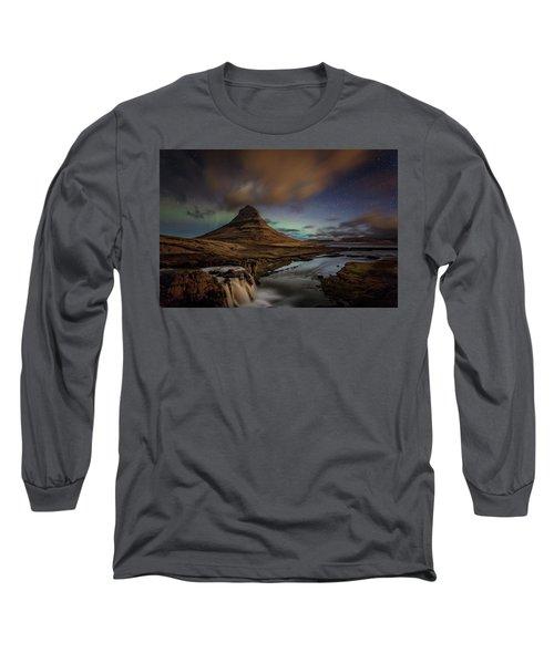Kirkjufell Mountain Long Sleeve T-Shirt