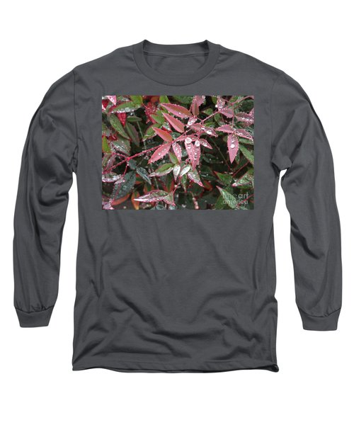 Kissed With Moisture Long Sleeve T-Shirt by Marie Neder