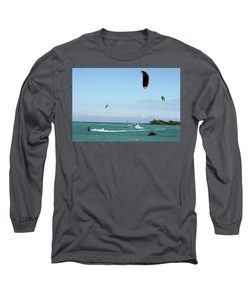 Kite Surfers And Maui Long Sleeve T-Shirt