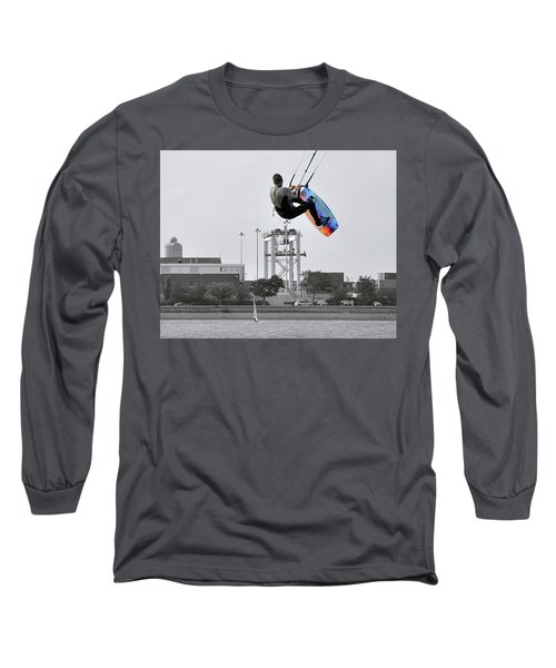 Kitesurfer Catching Air Long Sleeve T-Shirt