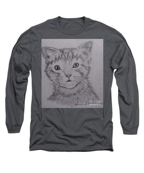 Kitten Long Sleeve T-Shirt by Brindha Naveen