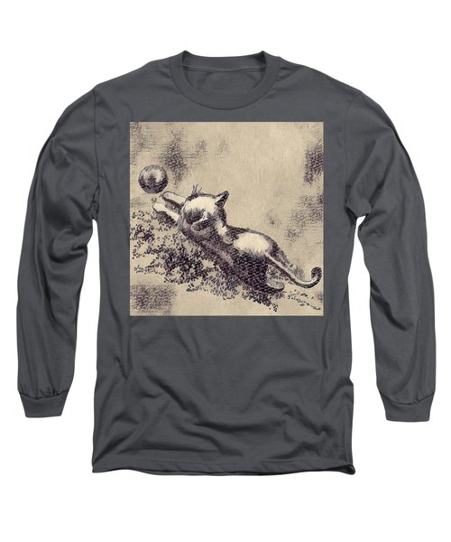 Kitten Playing With Ball Long Sleeve T-Shirt