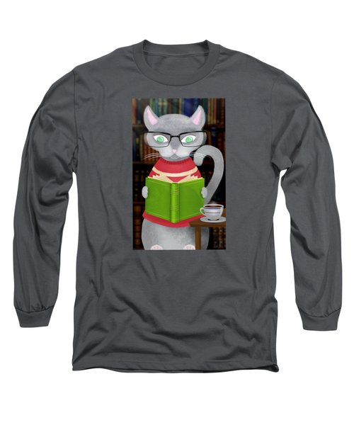 Kitty Corner Coffee And Reading Room Long Sleeve T-Shirt