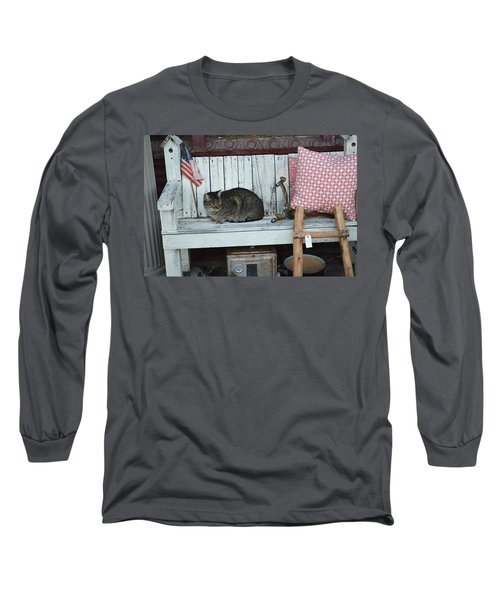 Kitty The Antique Dealer Long Sleeve T-Shirt by Carolina Liechtenstein