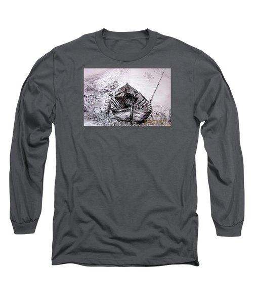 Long Sleeve T-Shirt featuring the drawing Klotok  by Jason Sentuf