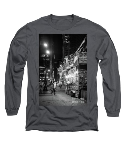 Long Sleeve T-Shirt featuring the photograph Knish, New York City  -17831-17832-bw by John Bald