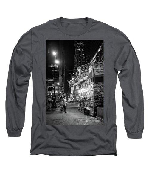 Knish, New York City  -17831-17832-bw Long Sleeve T-Shirt by John Bald