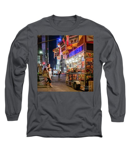 Long Sleeve T-Shirt featuring the photograph Knish, New York City  -17831-17832-sq by John Bald