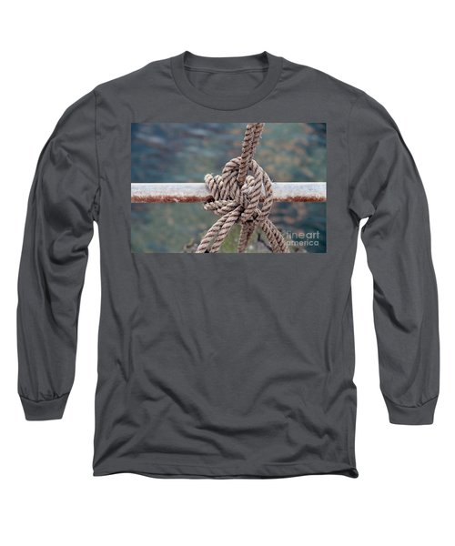 Long Sleeve T-Shirt featuring the photograph Knot Of My Warf by Stephen Mitchell