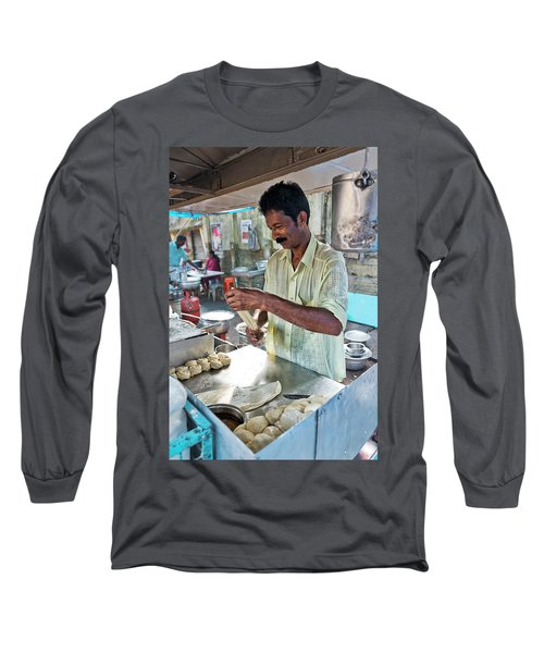 Long Sleeve T-Shirt featuring the photograph Kochi Stall by Marion Galt