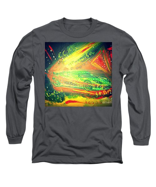 Long Sleeve T-Shirt featuring the painting Koenigsegg Ccxr Trevita Four Point Eight Million Dollars by Richard W Linford