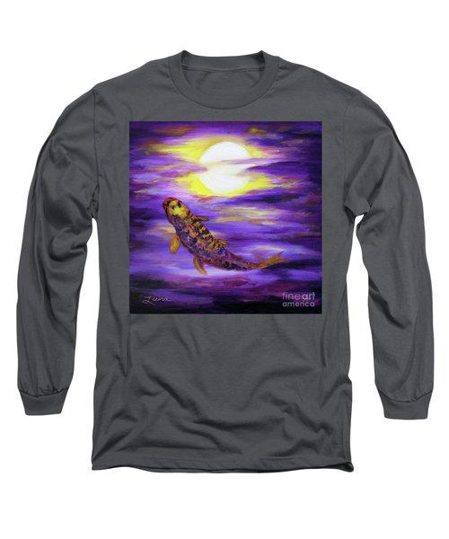 Koi In Purple Twilight Long Sleeve T-Shirt