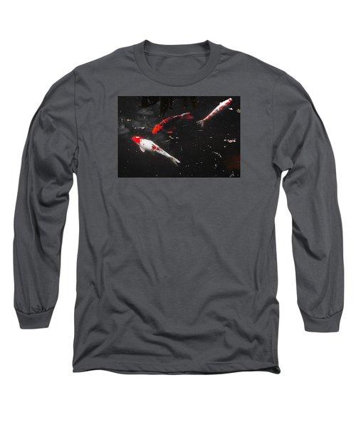 Koi Trio 1 Long Sleeve T-Shirt by Deborah  Crew-Johnson
