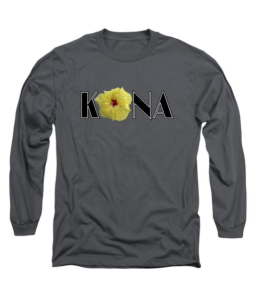 Kona Hibiscus Long Sleeve T-Shirt by David Lawson