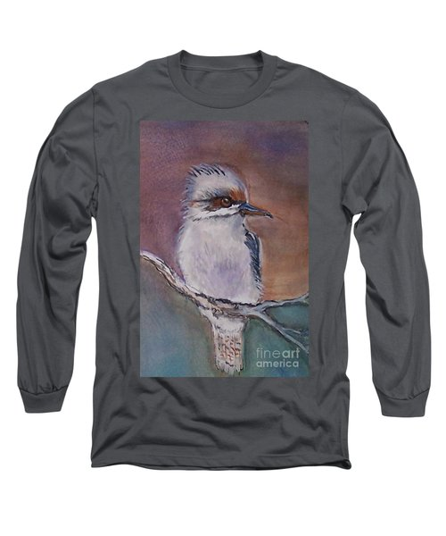 Long Sleeve T-Shirt featuring the painting Kookaburra Fancy by Leslie Allen