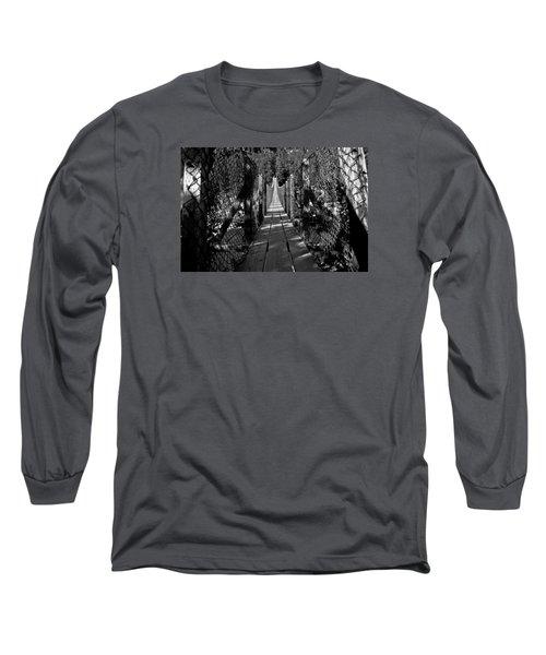 Kootenai Falls Bridge Long Sleeve T-Shirt