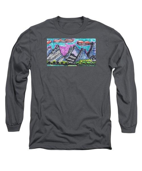 Korean Hills Long Sleeve T-Shirt by Don Koester