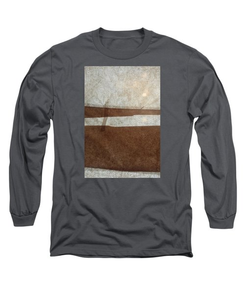 Kraft Paper And Screen Seascape Long Sleeve T-Shirt