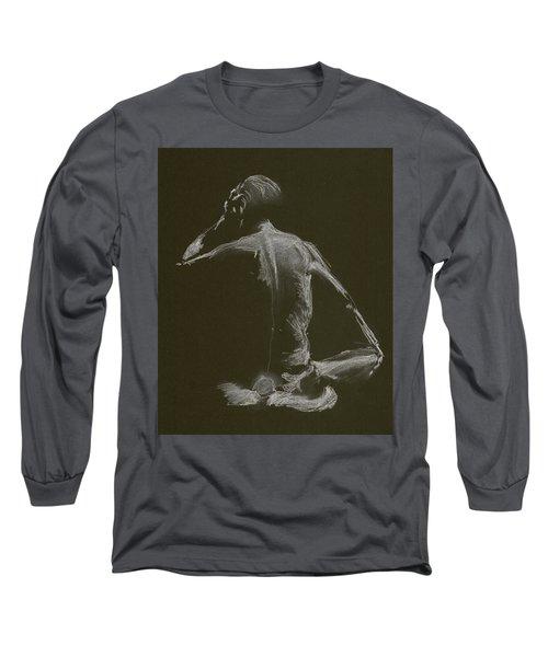 Kroki 2015 01 10_14 Figure Drawing White Chalk Long Sleeve T-Shirt