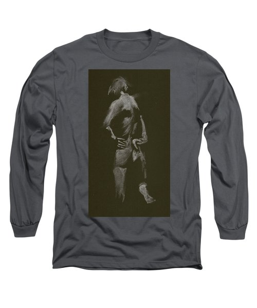 Kroki 2015 01 10_7 Figure Drawing White Chalk Long Sleeve T-Shirt