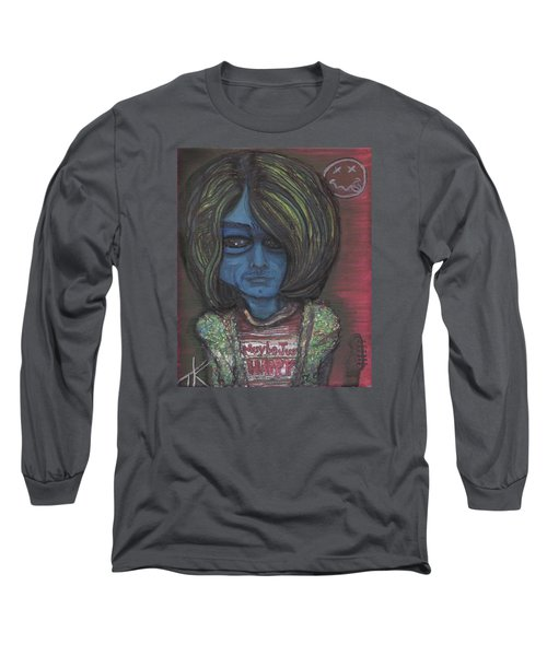Long Sleeve T-Shirt featuring the painting Kurt Cobalien by Similar Alien