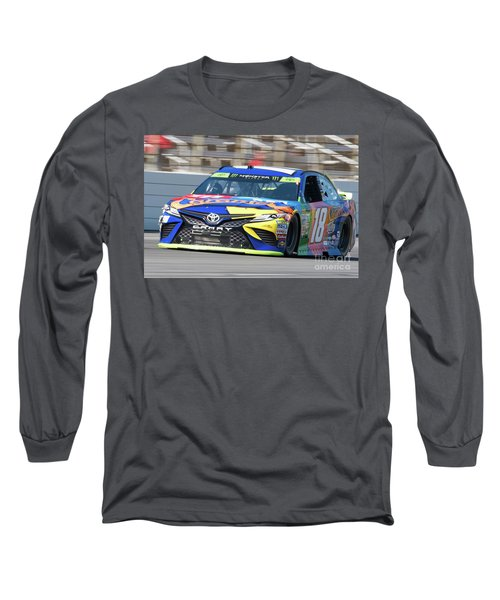 Kyle Busch Coming Out Of Turn 1 Long Sleeve T-Shirt