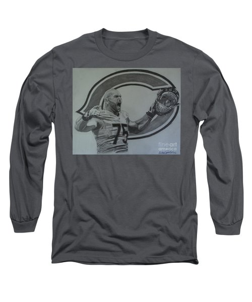 Kyle Long Portrait Long Sleeve T-Shirt by Melissa Goodrich