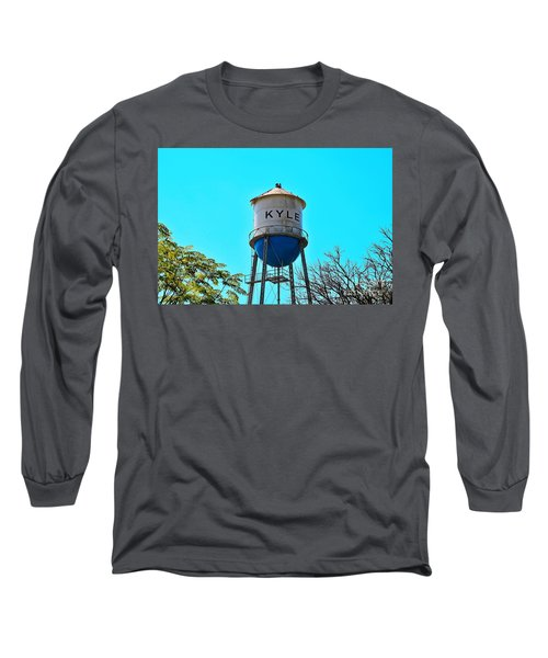 Kyle Texas Water Tower Long Sleeve T-Shirt by Ray Shrewsberry