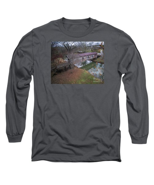 Kymulga Covered Bridge Aerial 1 Long Sleeve T-Shirt