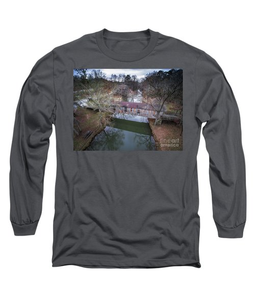 Kymulga Covered Bridge Aerial 2 Long Sleeve T-Shirt