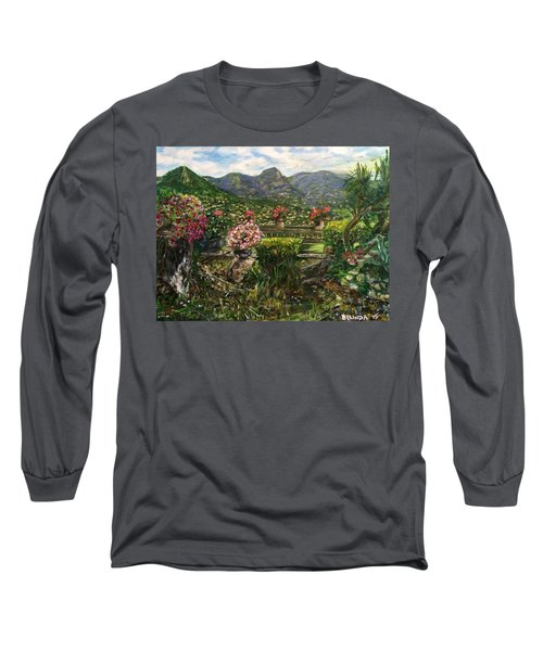 Long Sleeve T-Shirt featuring the painting La Belle Vence by Belinda Low