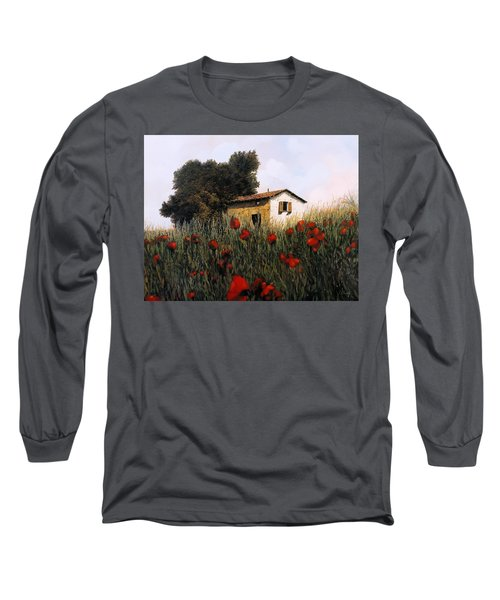 La Casetta In Mezzo Ai Papaveri Long Sleeve T-Shirt