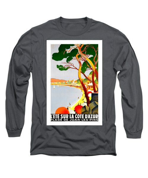 La Cote D Azur French Riviera 1930 Roger Broders Long Sleeve T-Shirt by Peter Gumaer Ogden Collection