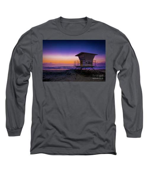 La Jolla Beach Sunset Long Sleeve T-Shirt