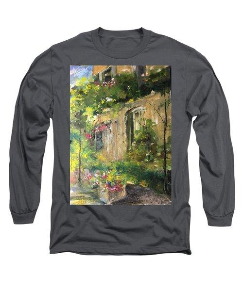 La Maison Est O Le Coeur Est Home Is Where The Heart I Long Sleeve T-Shirt by Robin Miller-Bookhout