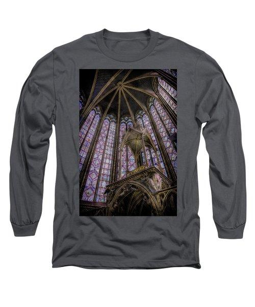 Paris, France - La-sainte-chapelle - Apse And Canopy Long Sleeve T-Shirt