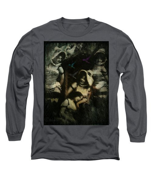 Long Sleeve T-Shirt featuring the digital art Ladies Who Lunch by Delight Worthyn