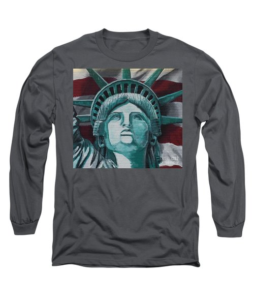 Lady Liberty Long Sleeve T-Shirt by Stan Tenney