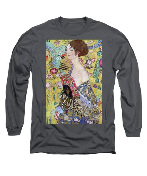 Lady With A Fan Long Sleeve T-Shirt