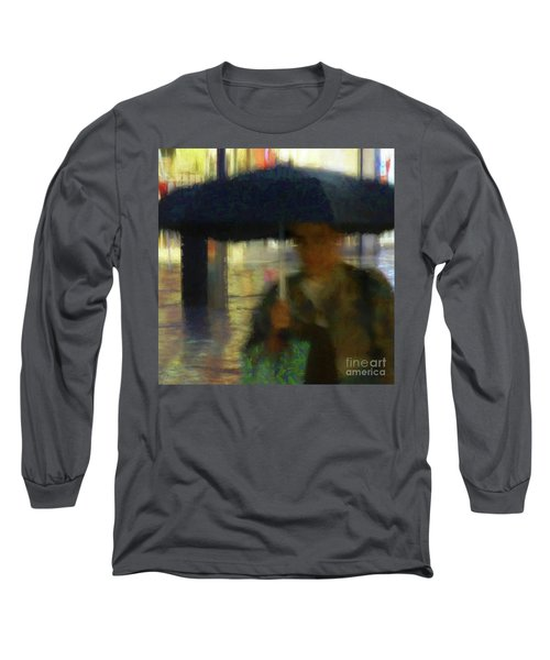 Long Sleeve T-Shirt featuring the photograph Lady With Umbrella by LemonArt Photography