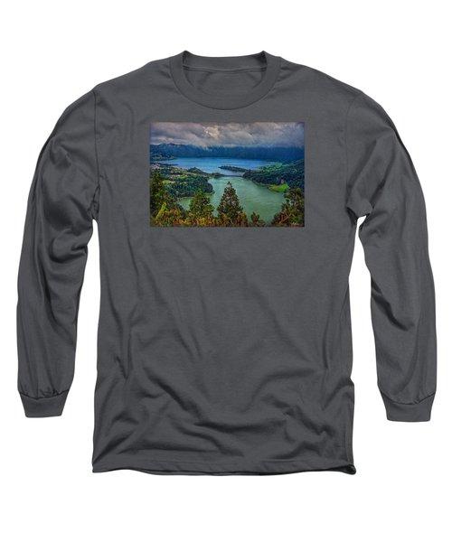 Lagoa Verde E Lagoa Azul Long Sleeve T-Shirt